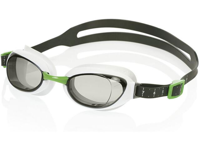 speedo Aquapure Mirror Okulary pływackie, white/smoke